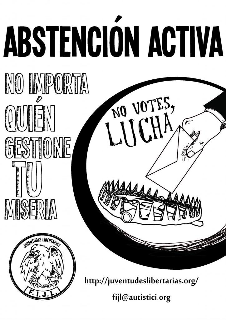 cartel abstención